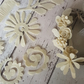 Ivory Felt 3D Flowers & Leaves, Felt Flower Kit, Flower Arranging Kit