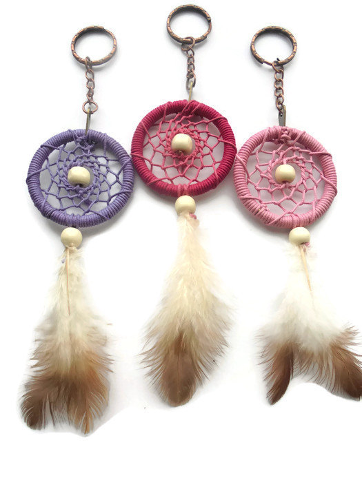 Dream catcher keyrings