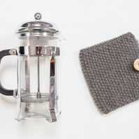 Charcoal coffee cosy - Cafetiere cosy - Coffee jug warmer - French press cover
