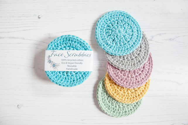 Reusable Face Scrubbies, Eco Friendly cleansing pads - Zero Waste - SORBET