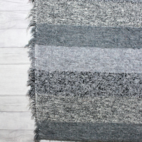 120x160 cm. (4' x 5'3) Grey Rug. Handwoven, Upcycled, Washable Rugs