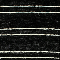 170x240cm. 5'6'x8' Black & White rug Handwoven Up-cycled & Washable rug