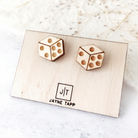 Wooden Dice Earrings