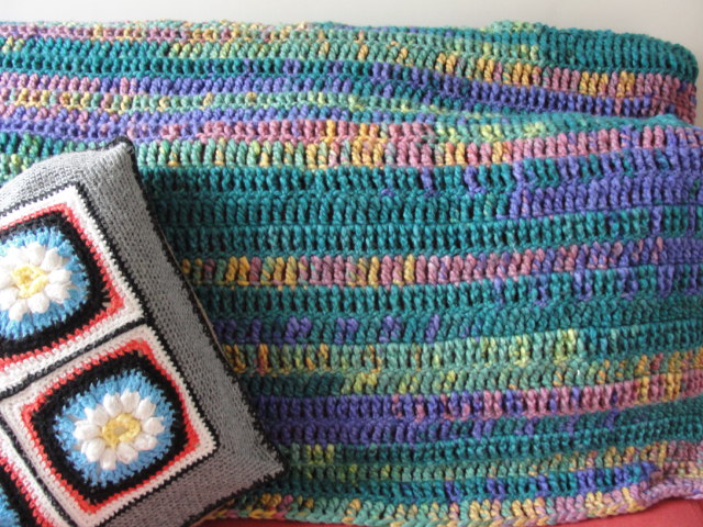 Single Bed Crochet Blanket