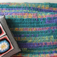 Wool Banket. Single Bed Crochet Blanket