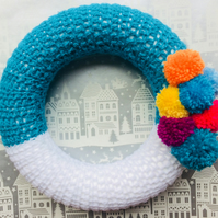 Christmas Wreath. Crochet Christmas Decoration.