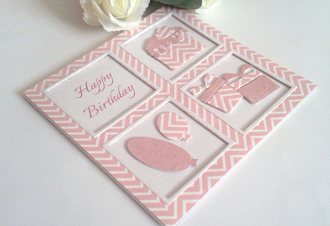 Handmade Birthday card with windows