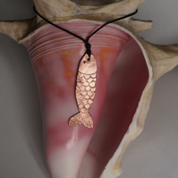 Hand made Copper Fish Necklace