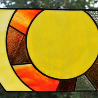 """Sphere"" Stained Glass Window Panel Wall Picture"
