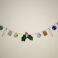 Stained Glass Christmas Garland Decoration