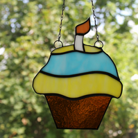 Stained Glass Muffin Cupcake Suncatcher