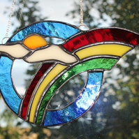 Stained Glass Rainbow Suncatcher