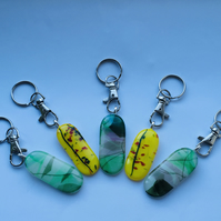 Fused glass Keyring.