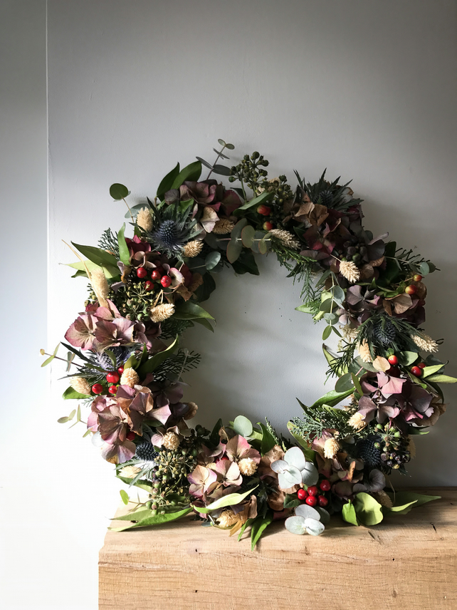 Natural, bespoke Christmas Wreaths handmade by Botanical Tales