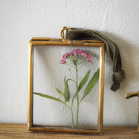 Bespoke miniature floral art - Pink wildflower