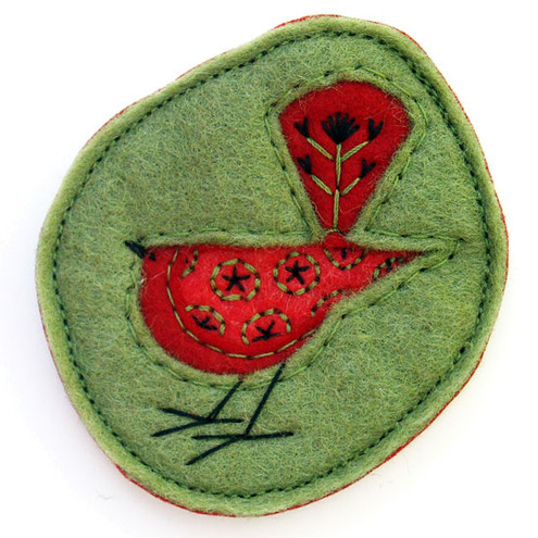 George, Hand Embroidered Brooch