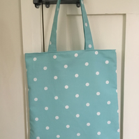 Polka Dot shopper market bag
