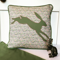 floral hare cushion