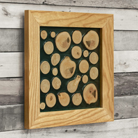 Wall Art - Tree Slices and Resin Natural Wall Decor - hanging nature