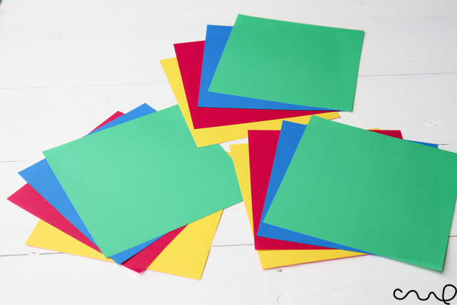 12  60gsm Double Sided Origami Paper Coloured Craft Square Assorted Paper 15cm