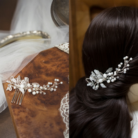 G006 Bridal hair comb, small side comb