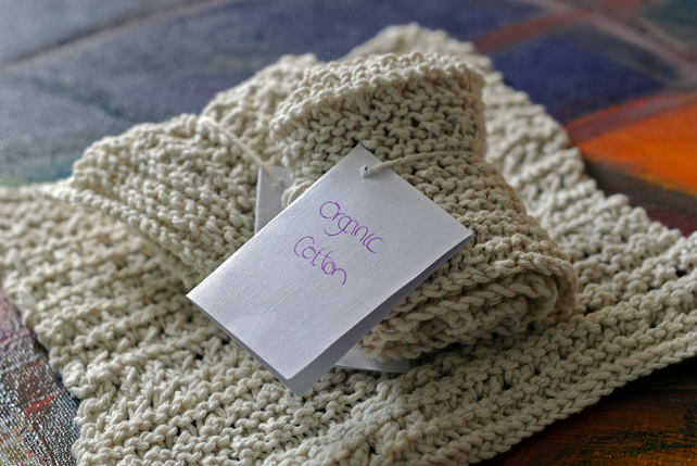 2 Organic cotton dishcloths