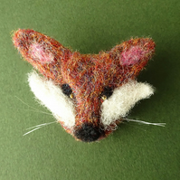 Animal Brooch, Fox Brooch, Rustic Handmade Jewellery, Needle Felt Animal Gift