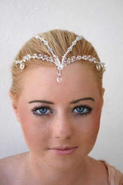 Bridal Headpiece, Crystal Bridal Tiara, Childlike Empress, Fantasy, LOTR Crown