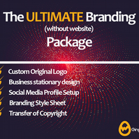 The Ultimate Branding Package without web - Logo Design - Stationary Design