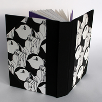 A6 puffin sketchbook, notebook or journal