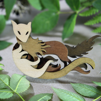 Fox Brooch - Woodland Collection