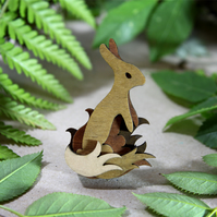 Rabbit Brooch - Woodland Collection