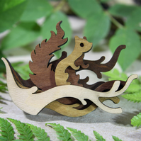Squirrel Brooch - Woodland Collection