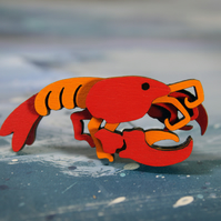 Lobster Brooch - Ocean Collection