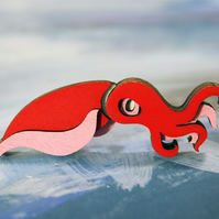 Squid Brooch - Ocean Collection