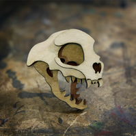 Cat Skull Brooch - Skelly Collection