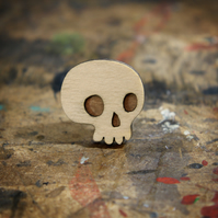 Mini Skull Brooch - Skelly Collection