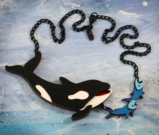 Orca Whale Hunting Necklace - Ocean Collection