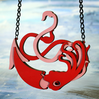 Giant Squid, Large pendant Necklace - Ocean Collection