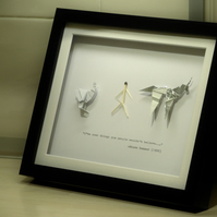 "Blade Runner Origami Collection - Mounted in an 8x10"" (20x25cm) Frame"