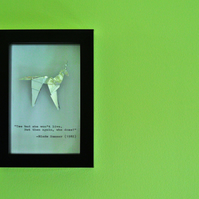 "Blade Runner Origami Unicorn and Quote in a 4x6"" (10x15cm) Frame"
