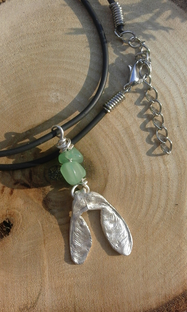 Silver sycamore pendant necklace