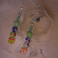 Colourful boho bead earrings