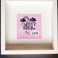 Hello Little One Cloud Personalised Print