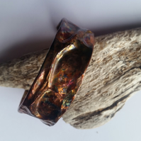 Air Chased Copper Cuff