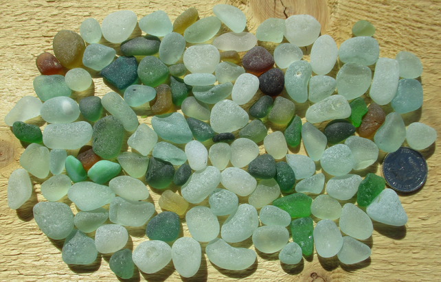 Genuine Seaham English Sea Glass - Small Stones, Chips and Chippings (65)