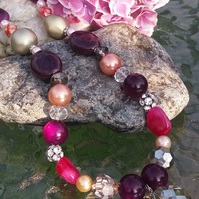 Chunky Glass Bead Necklace