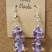 Frosted Swirl Bead Earrings