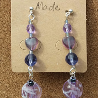 Purple & Lilac Bead Earrings