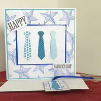 Father's Day Card with Matching Gift Tag